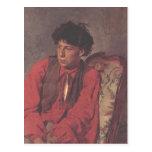 Retrato de Ilya Repin- de V.E. Repin Postales