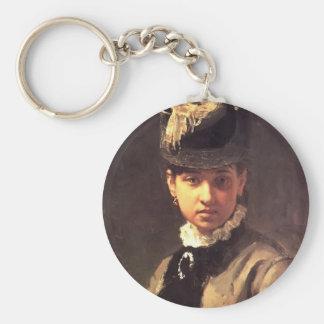 Retrato de Ilya Repin- de Vera Repina, la esposa d Llavero Personalizado