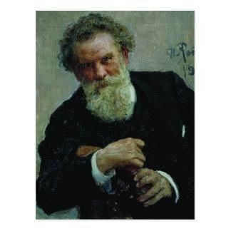 Retrato de Ilya Repin- de Vladimir Korolemko autor Postal