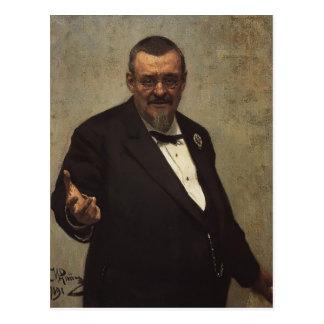 Retrato de Ilya Repin- del abogado Vladimir Spasov Tarjetas Postales