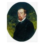 Retrato de Ilya Repin- del artista Vasily Polenov Tarjeta Postal
