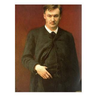 Retrato de Ilya Repin- del compositor Alexander Postal