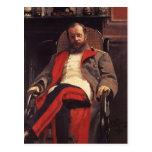 Retrato de Ilya Repin- del compositor Cesar Cui Postales