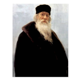 Retrato de Ilya Repin- del crítico Vladimir Stasov Postal