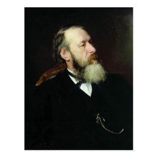 Retrato de Ilya Repin- del crítico Vladimir Stasov Tarjeta Postal