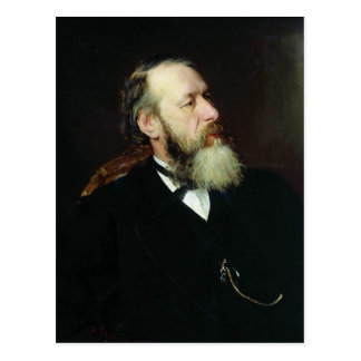 Retrato de Ilya Repin- del crítico Vladimir Stasov Tarjetas Postales