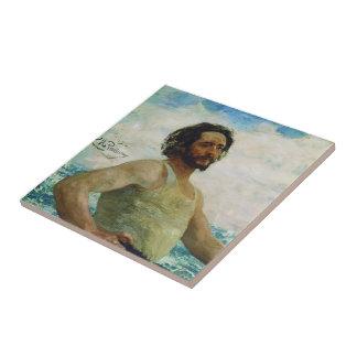 Retrato de Ilya Repin- del escritor Leonid Andreye Teja
