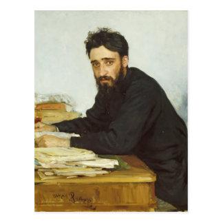 Retrato de Ilya Repin- del escritor Vsevolod Garsh Tarjeta Postal