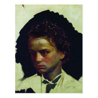 Retrato de Ilya Repin- del escultor Ilya Yakovlevi Tarjetas Postales
