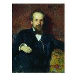 Retrato de Ilya Repin- del Narratorb Tarjeta Postal