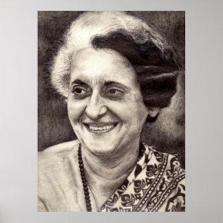 Retrato de Indira Gandhi Impresiones