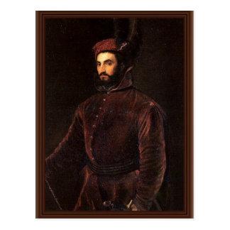 Retrato de Ippolito de' Medici. Por Tizian Postal