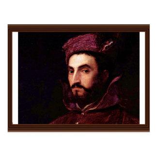 Retrato de Ippolito de' Medici. Por Tizian Tarjetas Postales