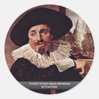 Retrato de Isaac Massa Abrahamsz de Francisco Hals Etiqueta Redonda