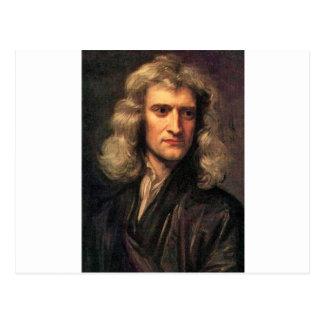 Retrato de Isaac Newton (1642-1727) Postal
