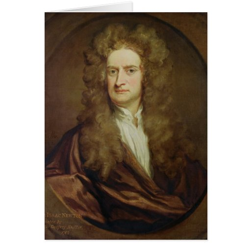 Retrato de Isaac Newton 1702 Felicitaciones