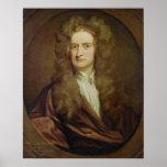 Retrato de Isaac Newton 1702 Póster