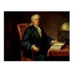 Retrato de Isaac Newton, c.1726 Postal