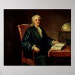 Retrato de Isaac Newton, c.1726 Póster