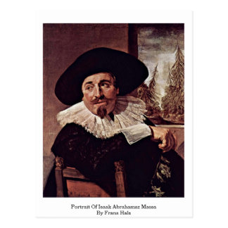 Retrato de Isaak Abrahamsz Massa de Francisco Hals Postales