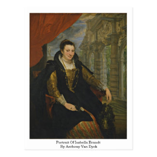 Retrato de Isabel Brandt de Anthony Van Dyck Postales