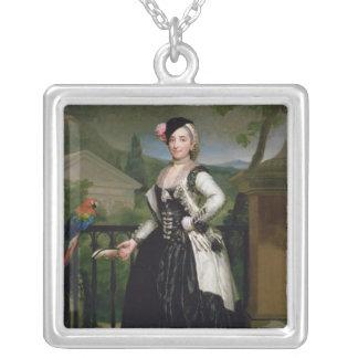 Retrato de Isabel Parrena Arce Colgante Cuadrado