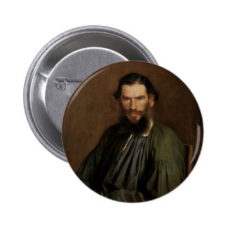 Retrato de Ivan Kramskoy- de León Tolstói Pin Redondo 5 Cm