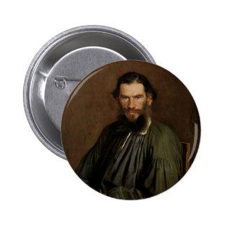 Retrato de Ivan Kramskoy- de León Tolstói Pin Redondo De 2 Pulgadas