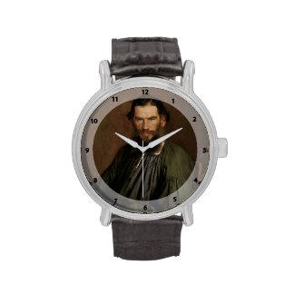 Retrato de Ivan Kramskoy- de León Tolstói Relojes De Mano