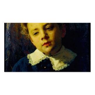 Retrato de Ivan Kramskoy- de Sergei Kramskoy Tarjetas De Visita