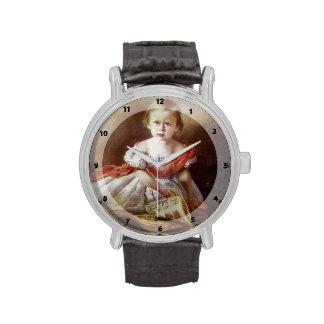 Retrato de Ivan Kramskoy- de un chica Relojes
