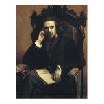 Retrato de Ivan Kramskoy- de Vladimir Solovyov Postal
