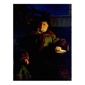 Retrato de Ivan Kramskoy- del astrónomo Otto Struv Tarjeta Postal