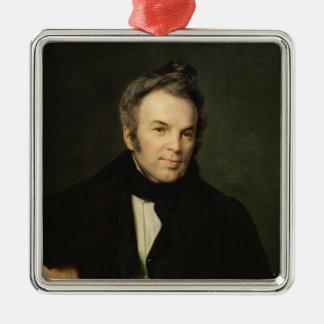 Retrato de Ivan Lazhechnikov, 1834 Adorno Navideño Cuadrado De Metal
