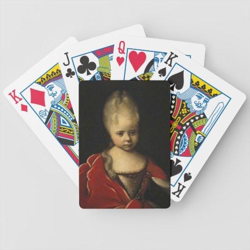 Retrato de Ivan Nikitin- de Elizaveta Petrovna Baraja Cartas De Poker