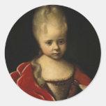 Retrato de Ivan Nikitin- de Elizaveta Petrovna Pegatina Redonda
