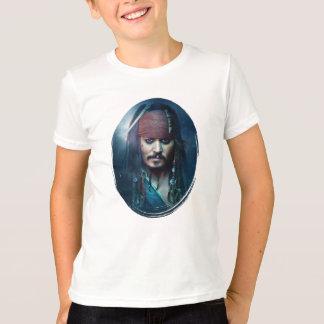 Retrato de Jack Sparrow Playera