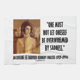 Retrato de Jackie Kennedy no dejado tristeza Toallas De Cocina