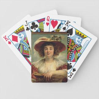 Retrato de Jacob Jordaens- de la hija del artista Barajas De Cartas