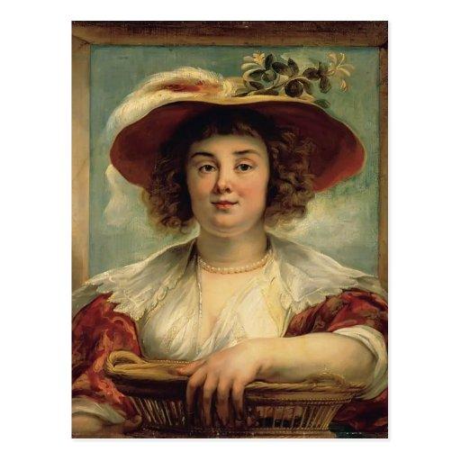 Retrato de Jacob Jordaens- de la hija del artista Postal