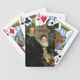 Retrato de Jacob Jordaens- de un par casado jóvene Cartas De Juego