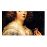 Retrato de Jacob Jordaens- de una señora joven Tarjetas Personales