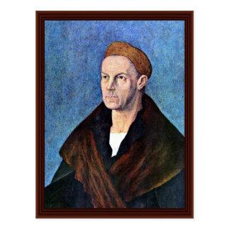 """Retrato de Jacobo Fugger el rico """"(1459-1525) """" Tarjeta Postal"""
