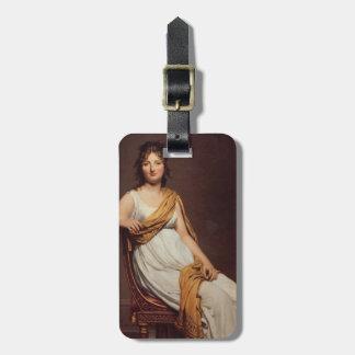 Retrato de Jacques David de señora Raymond Vernina Etiquetas De Equipaje