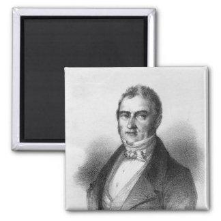 Retrato de Jacques Laffitte Imán Cuadrado