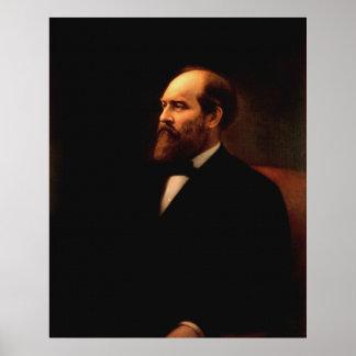 Retrato de JAMES A. GARFIELD por la impresión de C Póster
