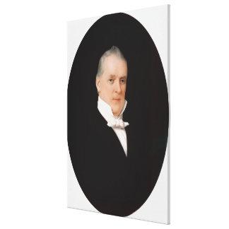 Retrato de JAMES BUCHANAN por la impresión de John Impresion De Lienzo