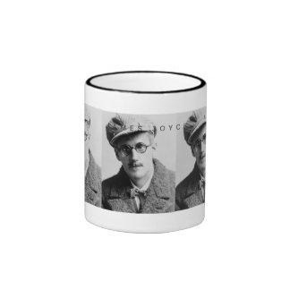 Retrato de James Joyce del vintage Taza A Dos Colores