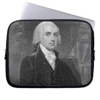 Retrato de James Madison, grabado por Guillermo A. Mangas Portátiles