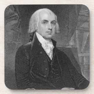 Retrato de James Madison, grabado por Guillermo A. Posavasos De Bebida